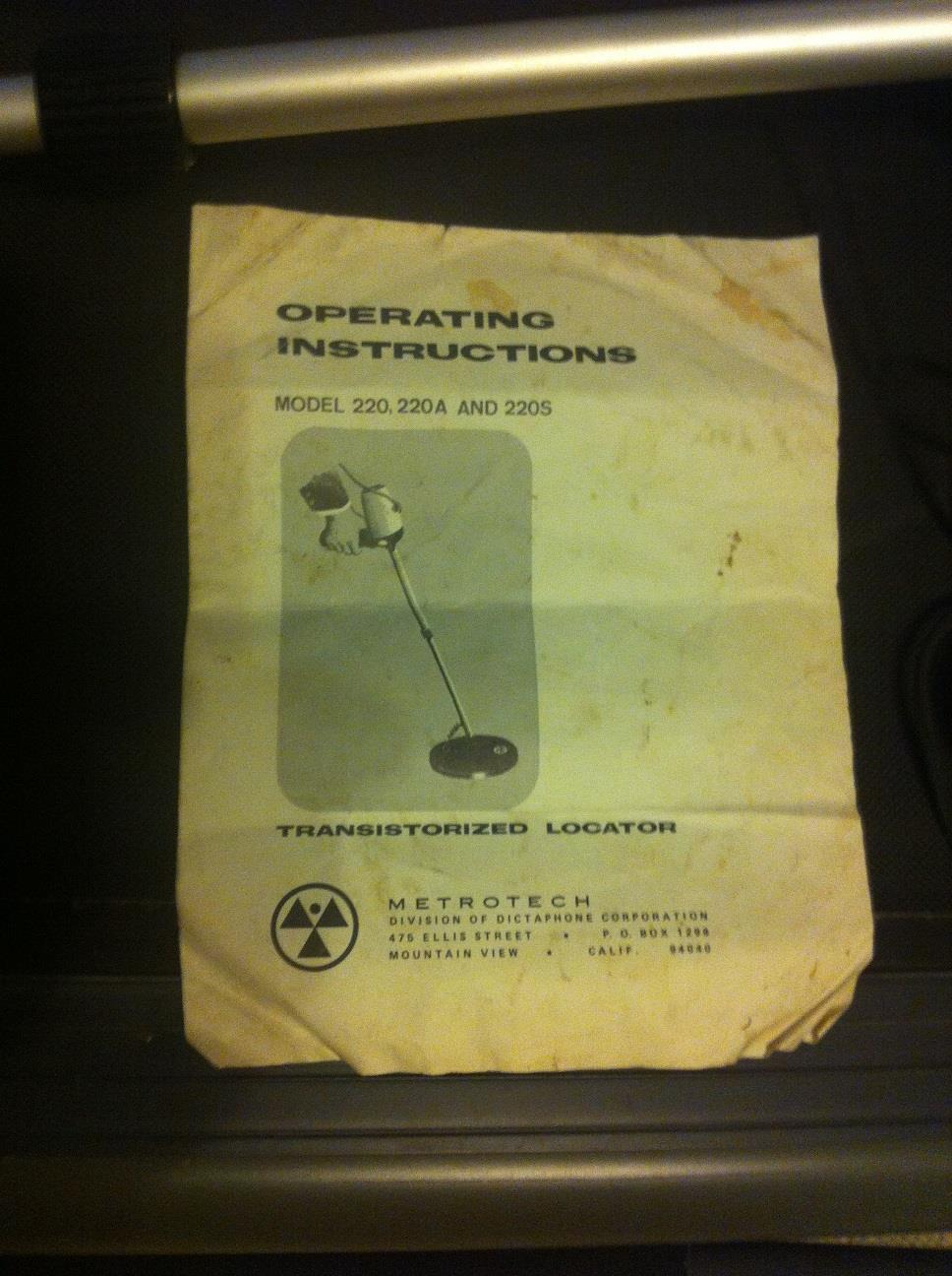 garrett a2b metal detector manual