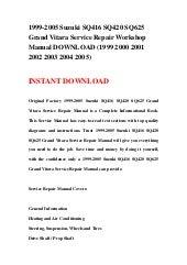 2013 suzuki grand vitara 2.4 workshop manual