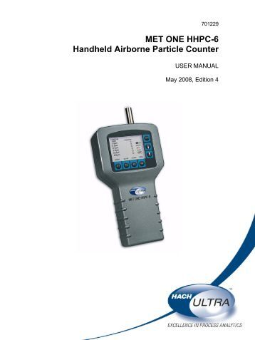 met one particle counter 3400 manual