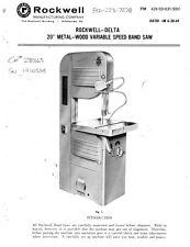 rockwell 28-3x0 bandsaw manual