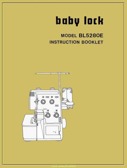 baby lock 400600 service manual