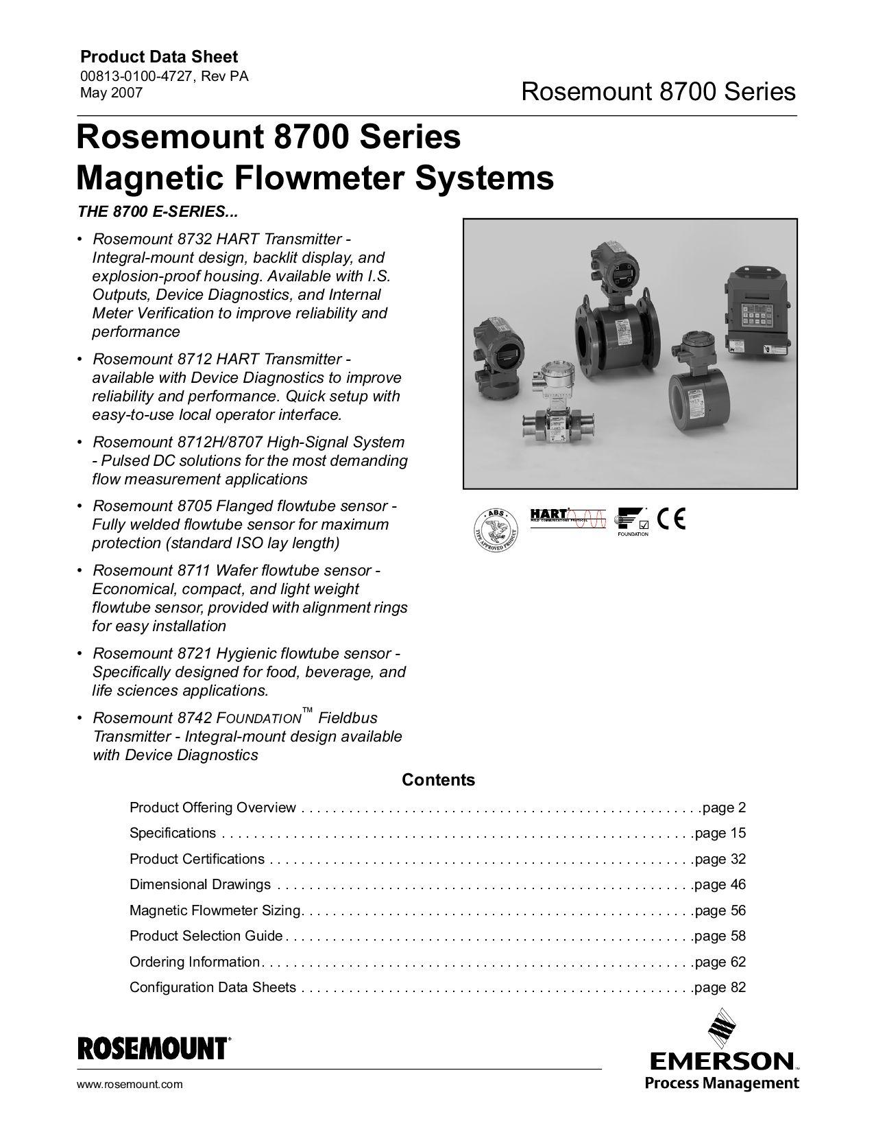 rosemount magnetic flow meter 8732 manual