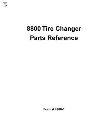 monty 5800b tyre changer parts manual