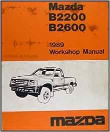 mazda b2600 repair manual pdf