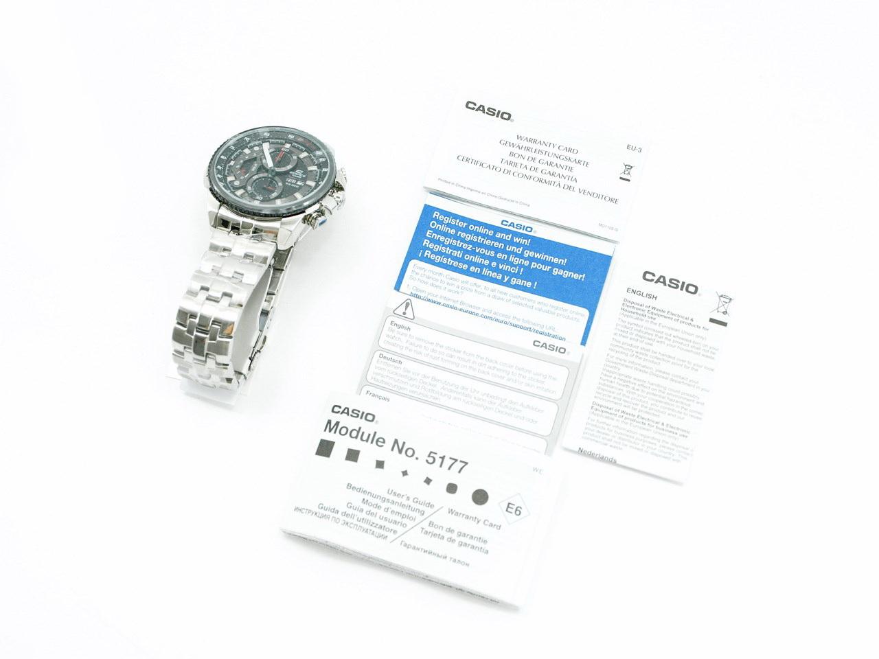 casio edifice 543 user manual