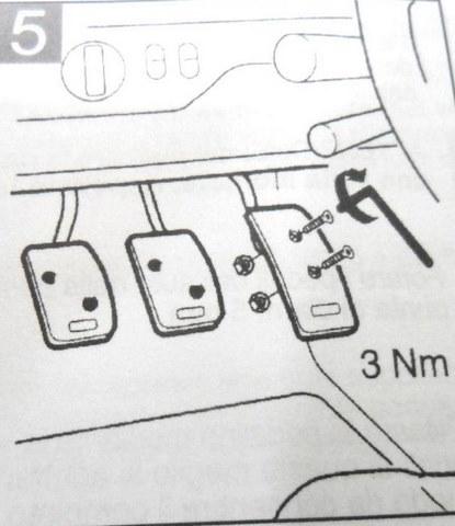 mazda 3 manual pedal covers