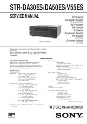str-da50es receiver service manual