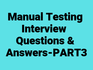 manual testing questions and answers for freshers