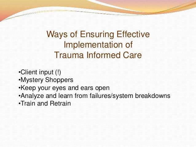 trauma informed care training manual